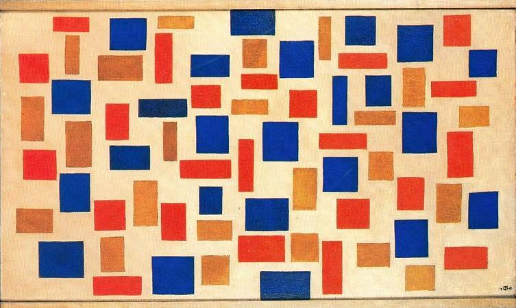 Composition, Oil On Canvas by Theo Van Doesburg (1883-1931, Netherlands)
