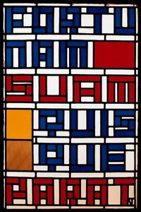 Theo Van Doesburg - Stained glass window. Leaded glass.