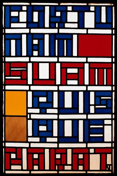 Stained glass window. Leaded glass. by Theo Van Doesburg (1883-1931, Netherlands) | WahooArt.com