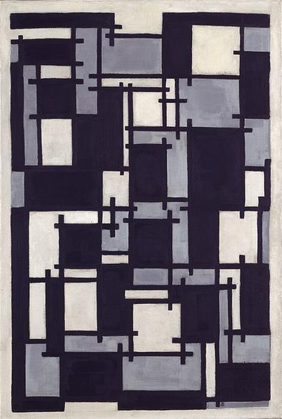 Composition X, Oil On Canvas by Theo Van Doesburg (1883-1931, Netherlands)