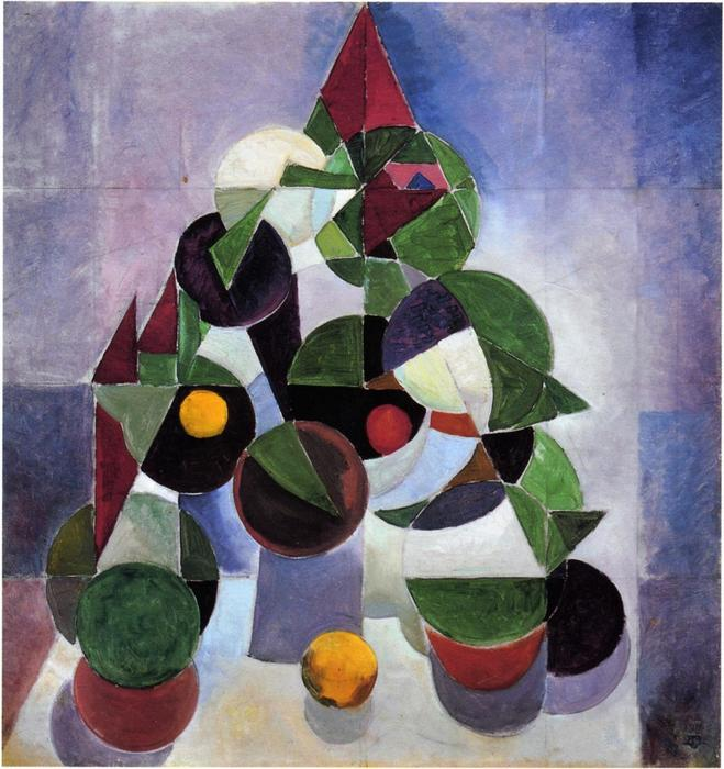 Composition I (Still life), 1916 by Theo Van Doesburg (1883-1931, Netherlands)