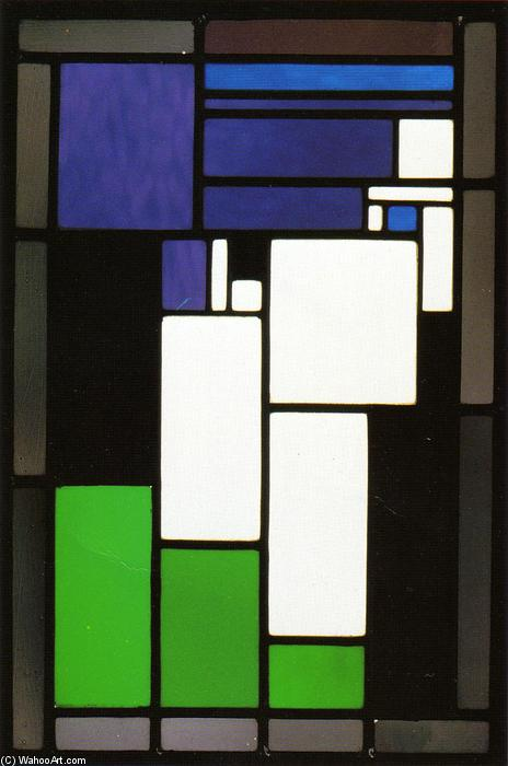 Order Famous Paintings Reproductions : Stained glass composition ``Woman``, 1917 by Theo Van Doesburg (1883-1931, Netherlands) | WahooArt.com