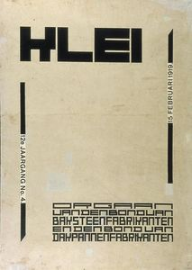 Theo Van Doesburg - Cover design for magazine --Klei--