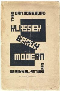 Theo Van Doesburg - Cover of ''Classic, Modern, Baroque''