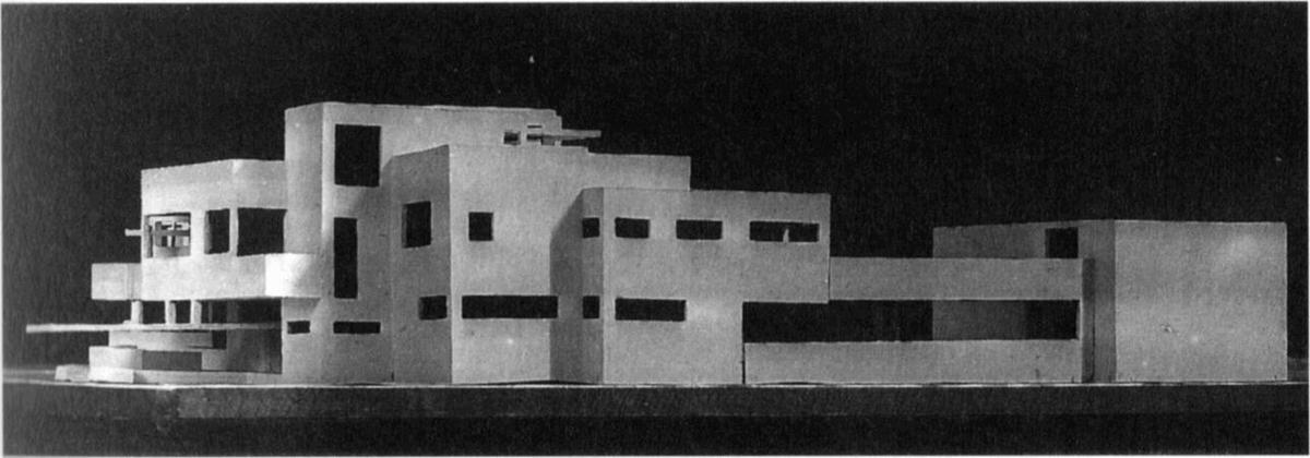 Model of mansion, 1923 by Theo Van Doesburg (1883-1931, Netherlands)