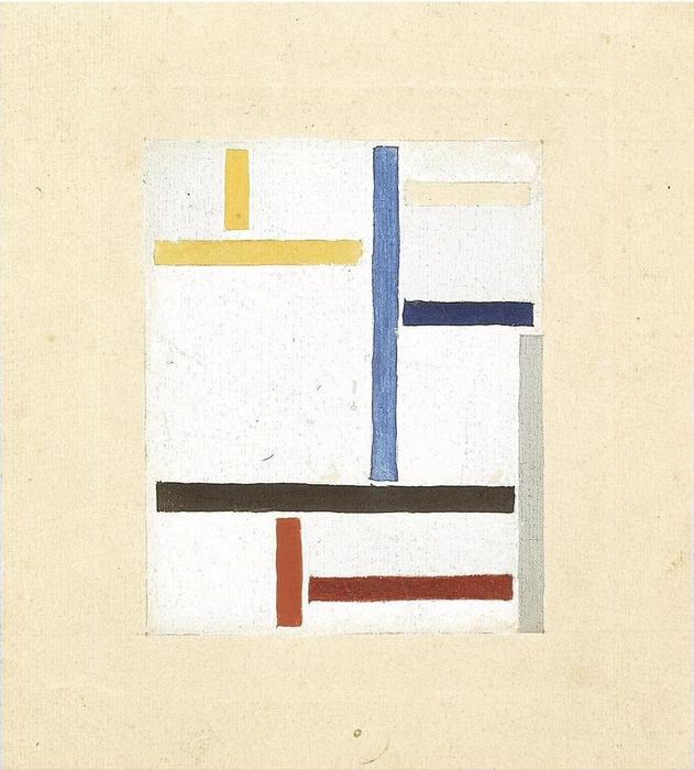 Study for Composition XXV, 1923 by Theo Van Doesburg (1883-1931, Netherlands) | Painting Copy | WahooArt.com