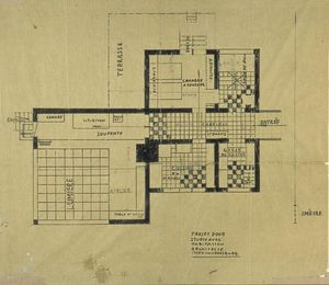 Theo Van Doesburg - Project of house-studio