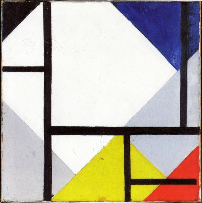 Simultaneous Counter Composition, Oil On Canvas by Theo Van Doesburg (1883-1931, Netherlands)