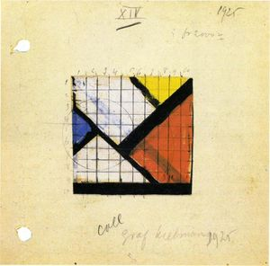 Theo Van Doesburg - Study for Counter Composition XIV