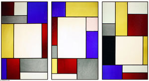 Theo Van Doesburg - Tripartite stained glass window