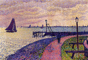 Theo Van Rysselberghe - Port Entrance at Volendam