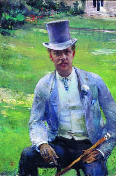 Portrait of Octave Maus as Dandy, 1885 by Theo Van Rysselberghe (1862-1926, Belgium)