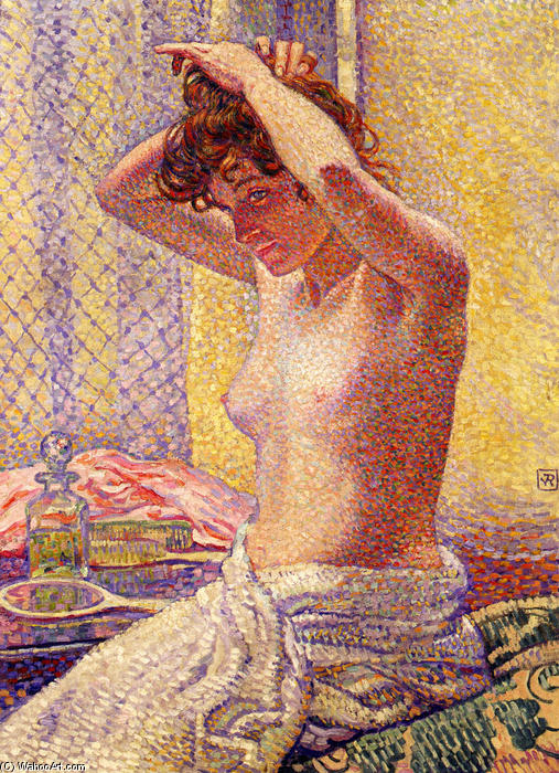 Woman at Her Toilette, 1905 by Theo Van Rysselberghe (1862-1926, Belgium)
