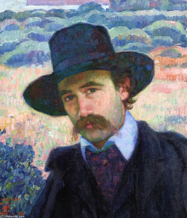 Andre Gide at Jersey, 1907 by Theo Van Rysselberghe (1862-1926, Belgium) | Famous Paintings Reproductions | WahooArt.com
