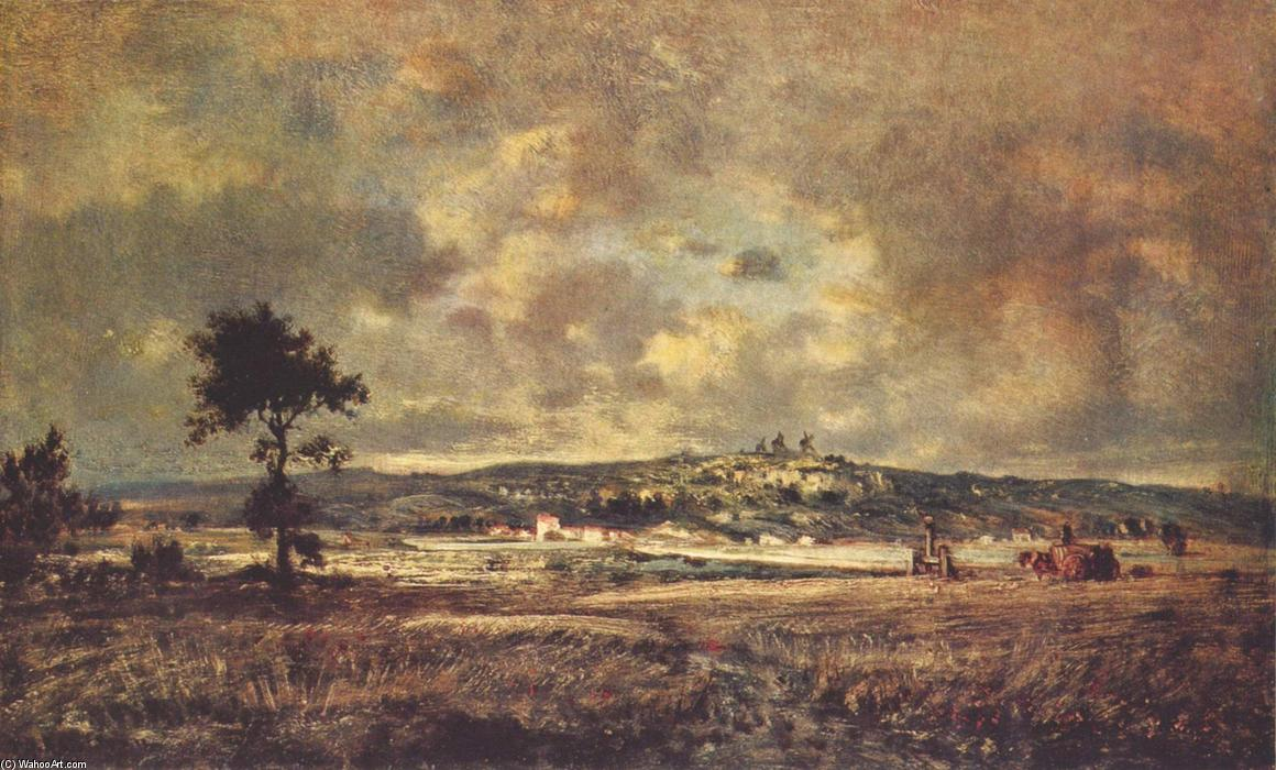 View of the plain of Montmartre X effect of storm, 1848 by Theodore Robinson (1852-1896, United States) | Famous Paintings Reproductions | WahooArt.com