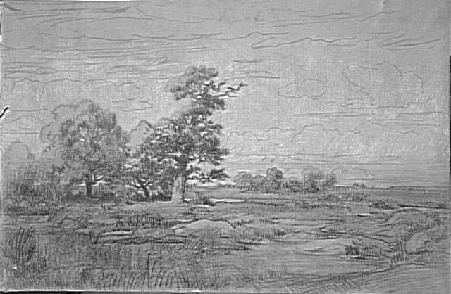 Landscape Sketch by Theodore Robinson (1852-1896, United States) | Art Reproduction | WahooArt.com