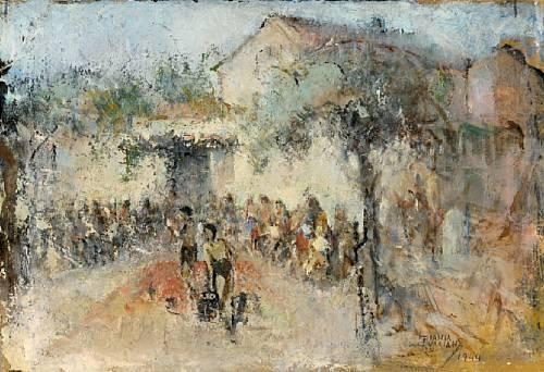 Open air show by Theophrastos Triantafyllidis (1881-1955)