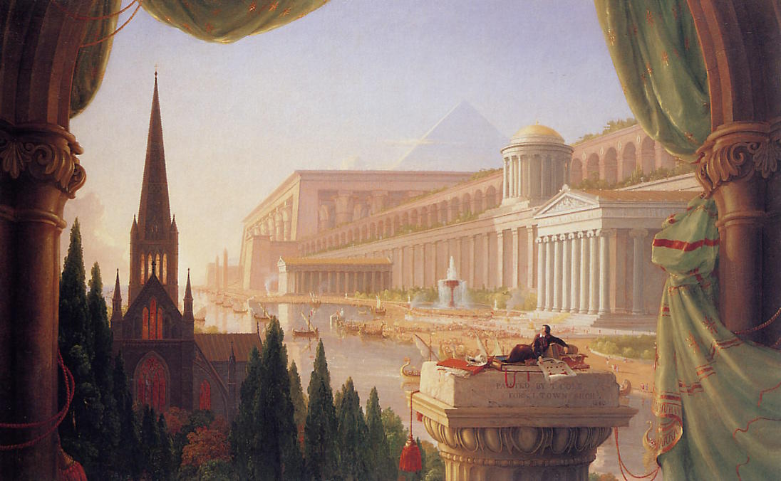 The dream of the architect, 1840 by Thomas Cole (1801-1848, United Kingdom) | Reproductions Thomas Cole | WahooArt.com