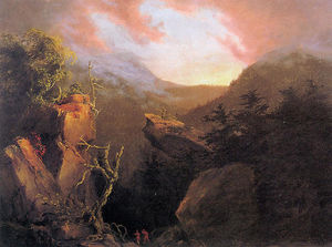 Thomas Cole - Mountain Sunrise