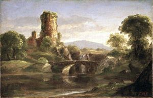 Thomas Cole - Ruined Castle and River