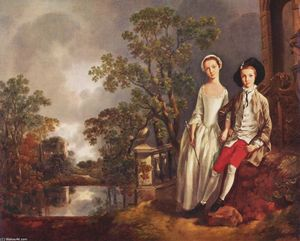 Thomas Gainsborough - Portrait of Heneage Lloyd and his Sister, Lucy