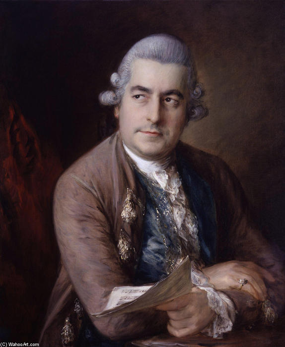 Portrait of Johann Christian Bach, 1776 by Thomas Gainsborough (1727-1788, United Kingdom) | Art Reproduction | WahooArt.com