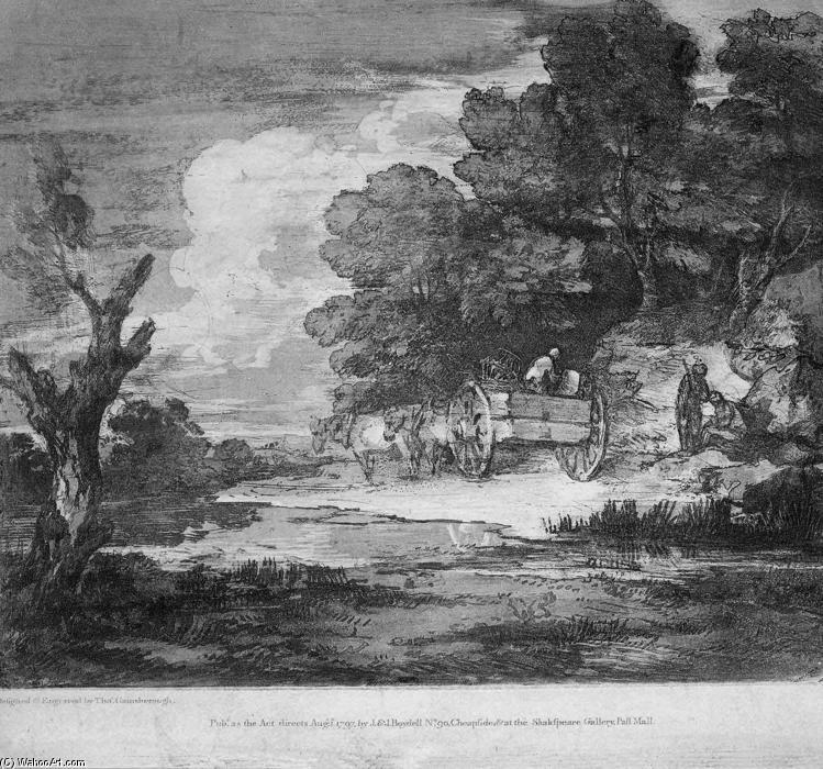 Gainsborough United Kingdom  city photo : Landscape' by Thomas Gainsborough 1727 1788, United Kingdom