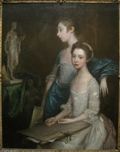 Thomas Gainsborough - Portrait of the Artist's Daughters