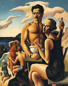 Thomas Hart Benton - Self-Portrait with Rita
