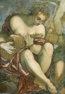 Tintoretto (Jacopo Comin) - Muse with Lute