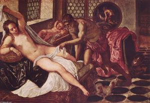 Tintoretto (Jacopo Comin) - Venus and Mars Surprised by Vulcan