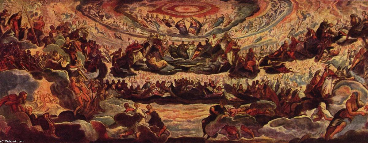 Paradies, 1579 by Tintoretto (Jacopo Comin) (1518-1594, Italy) | Painting Copy | WahooArt.com