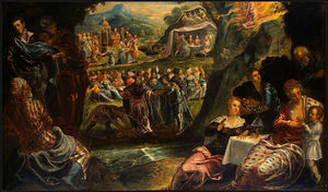 Tintoretto (Jacopo Comin) - The Worship of the Golden Calf