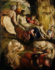 Tintoretto (Jacopo Comin) - Christ Carried to the Tomb