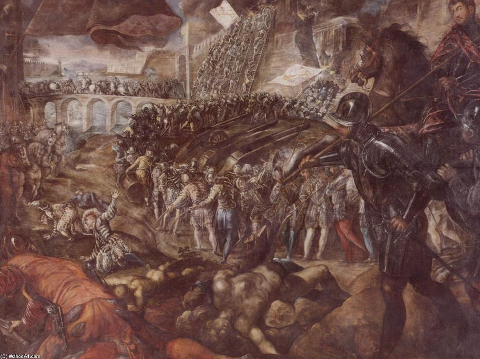 Frederick II conquered Parma in 1521, 1579 by Tintoretto (Jacopo Comin) (1518-1594, Italy) | Museum Quality Reproductions | WahooArt.com