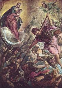 Tintoretto (Jacopo Comin) - Battle of the Archangel Michael and the Satan