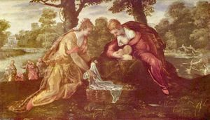 Tintoretto (Jacopo Comin) - Finding of Moses