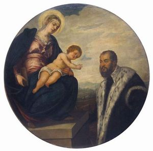 Tintoretto (Jacopo Comin) - Madonna with Child and Donor Tintoretto