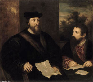 Tiziano Vecellio (Titian) - French Cardinal Georges d`Armagnac and his secretary G. Philandrier