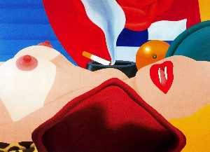 Tom Wesselmann - Great American Nude No. 99, 1968 (oil on canvas)