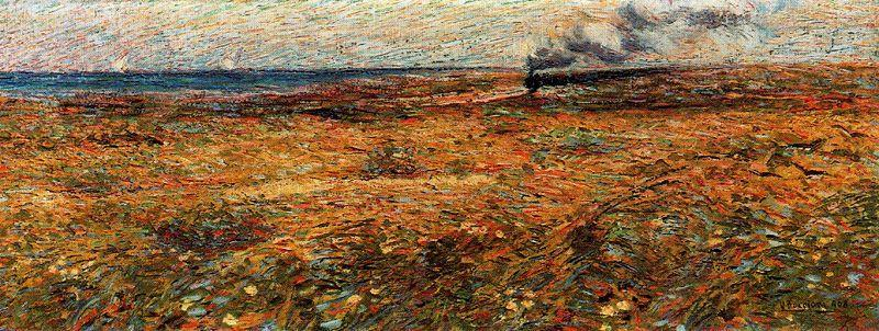 Order Paintings Reproductions | Passing Train, 1908 by Umberto Boccioni (1882-1916, Italy) | WahooArt.com