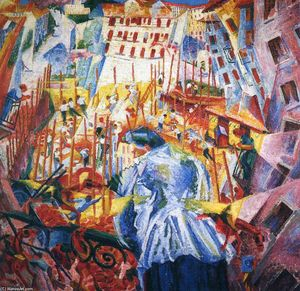 Umberto Boccioni - The Street Enters the House