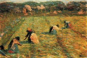 Umberto Boccioni - Farmers at work (Risaiole)
