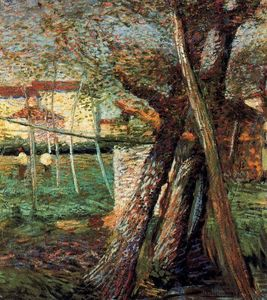 Umberto Boccioni - Countryside with Trees