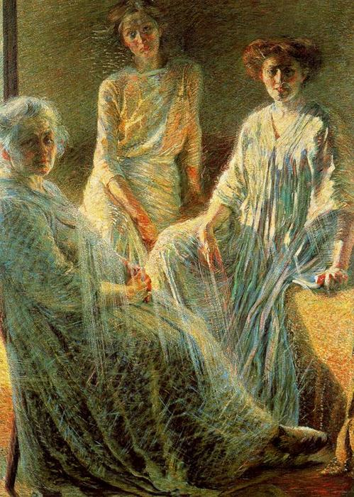 Three Women, Oil On Canvas by Umberto Boccioni (1882-1916, Italy)