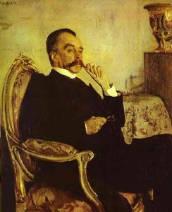 Order Reproductions | Portrait of Prince Vladimir Mikhailovich Golitsyn, 1906 by Valentin Alexandrovich Serov (1865-1911, Russia) | WahooArt.com