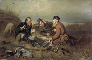 Vasily Grigoryevich Perov - Hunters at rest