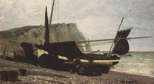 Vasily Dmitrievich Polenov - Fishing Boat. Etretat. Normandy.