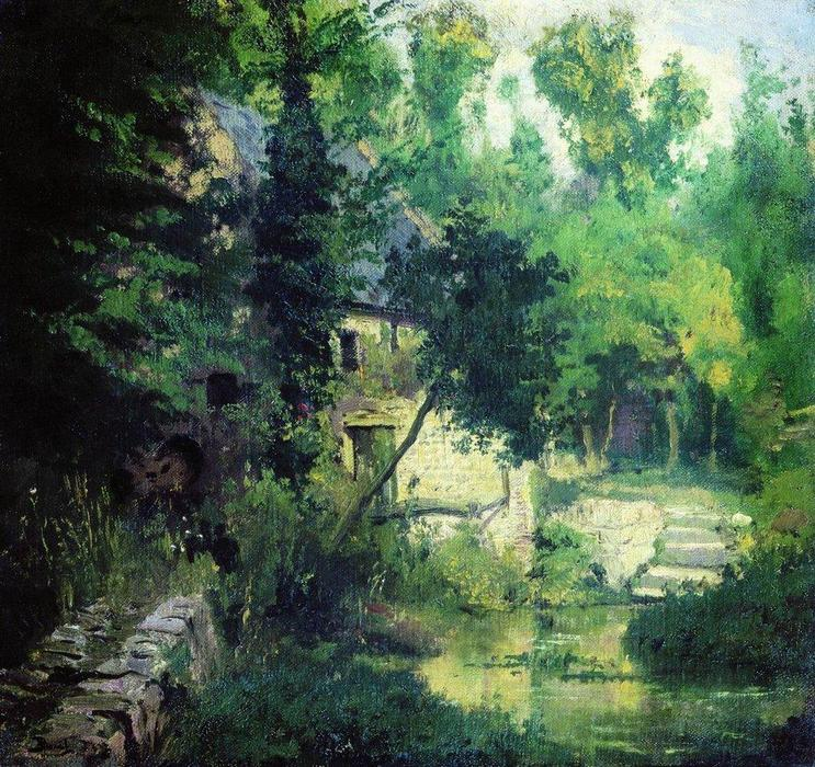 The mill on the source of the river Vel, 1874 by Vasily Dmitrievich Polenov | Art Reproduction | WahooArt.com