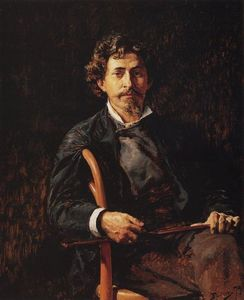 Vasily Dmitrievich Polenov - Portrait of the Artist Ilya Repin
